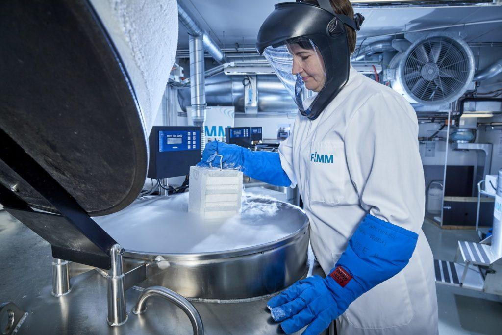 Researcher in a laboratory.