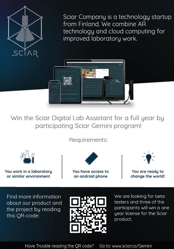 Poster of Sciar Digital Lab Assistant